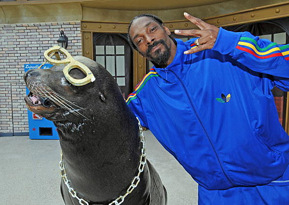 Snoop Dogg At SeaWorld San Diego