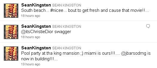 Sean Kingston on Twitter