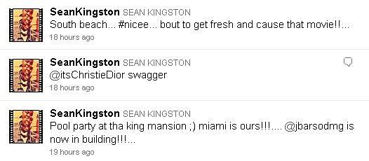 Sean Kingston on Twitter