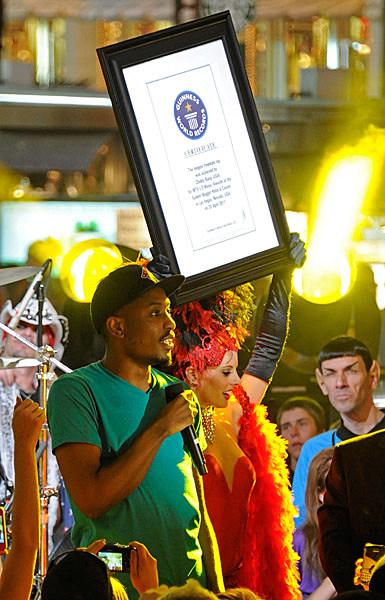 Chiddy Breaks Guinness Record