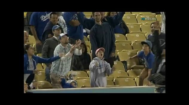 YouTube - DAD DROPS DAUGHTER AT DODGERS GAME