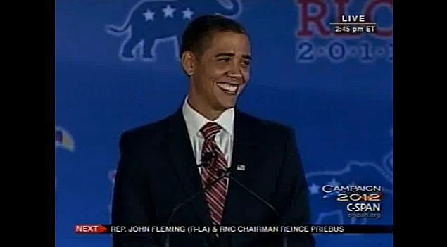 YouTube - At GOP Leadership Conference, Obama Impersonator