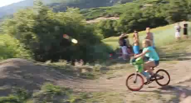 Girl Flies Into Lake Off Bike Jump