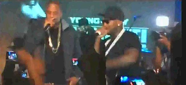 Jeezy and Jay Z On Stage