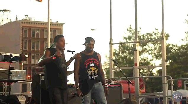 Kanye and Q-Tip Brooklyn Hip Hop Fest