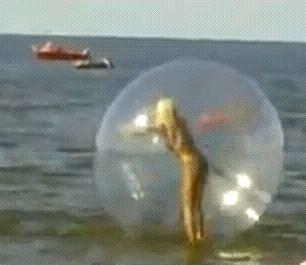 Blonde Air Walker Ball