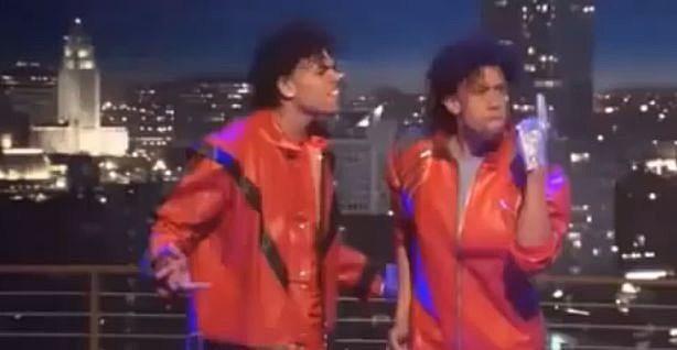 Chris Brown and Affion Crocket