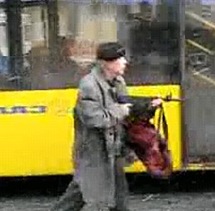 Old Man Uses Gun to Get on Bus