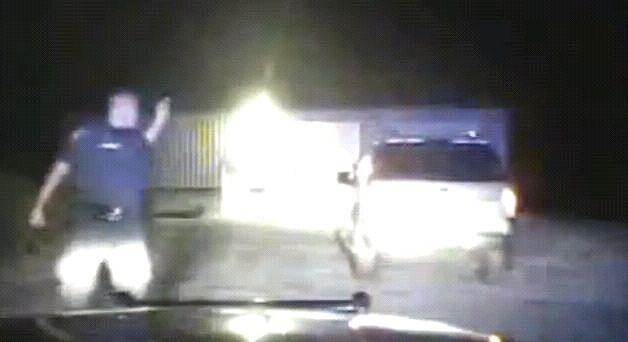Police Man Loses Temper