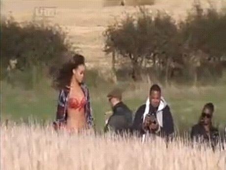 Rihanna Video Shoot