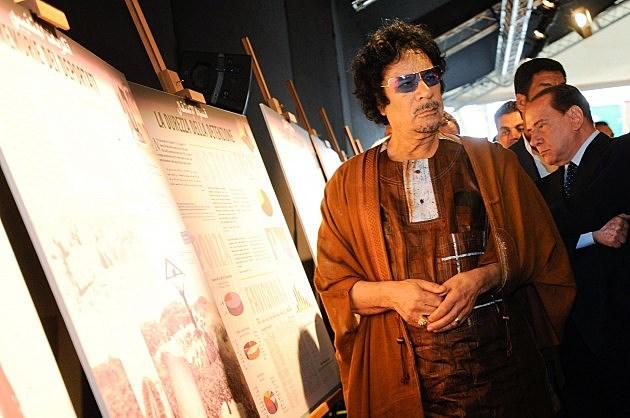 Libyan Leader Muammar Gaddafi Official Visit In Rome