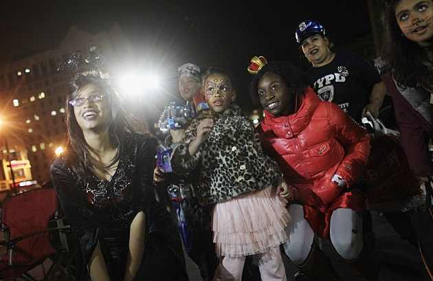 Halloween Brings Out Trick-Or-Treaters, Young And Old