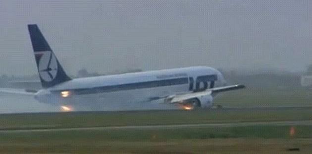 Plane Landing With No Landing Gear