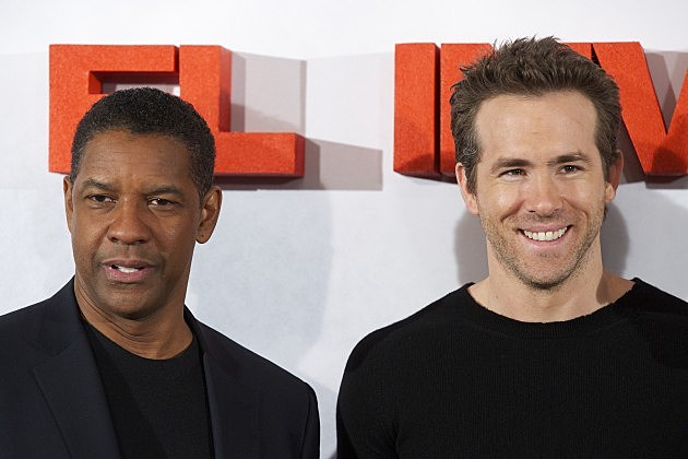 Denzel Washington and Ryan Reynolds Attend 'Safe House' Photocall