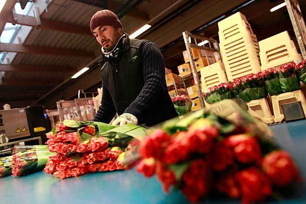 Flower Sellers Prepare For Valentine's Day