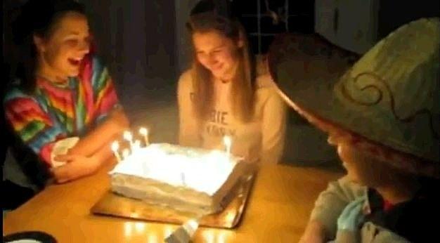 Birthday Cake Prank Fail
