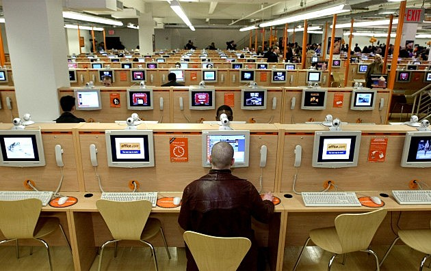 Largest Internet Cafe in Times Square