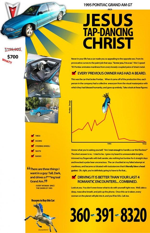 Craigslist Car Ad