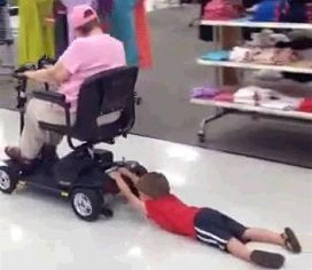 Grandma Drags Kid