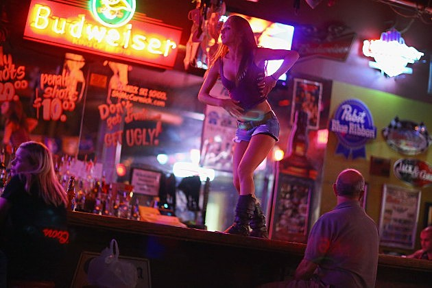 Stripper Takes A Nosedive