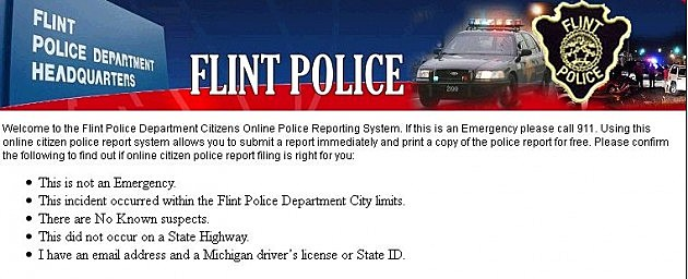Flint Police Department Unviels COPLOGIC