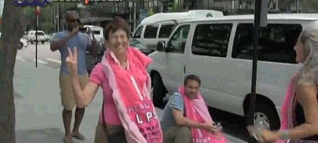 Code Pink Vaginaw Costume For Republican Convention