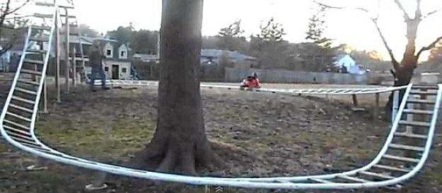 Dad Builds Backyard Rollercoaster
