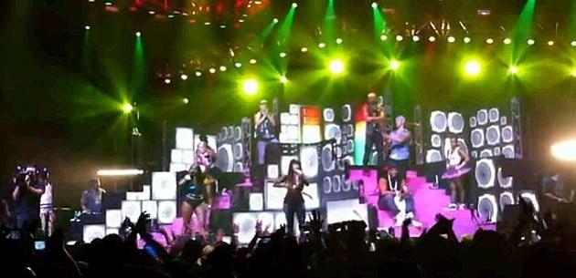 Nicki Minaj And Foxy Brown On Stage