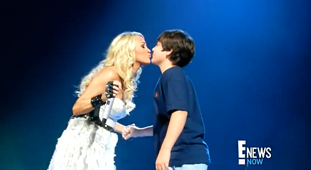 Carrie Underwood Kissed a Minor