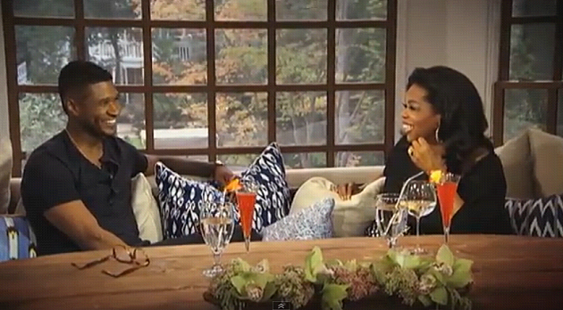 Usher and Oprah Winfrey
