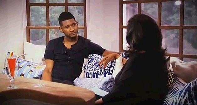 Usher Talks To Oprah