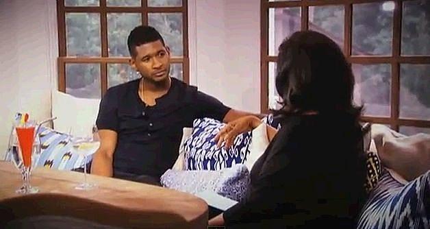 Usher Talks To Oprah