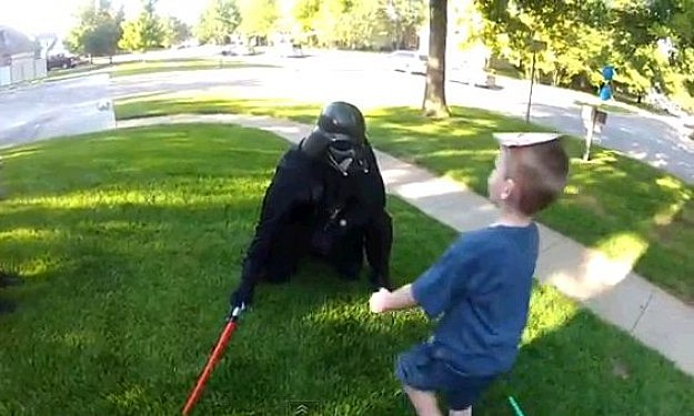 Darth Vadar Surprises Son