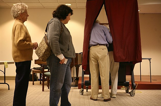 Elderly Voters At The Ballot