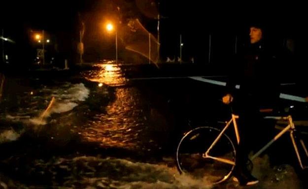 Hurricane Sandy On Bikes