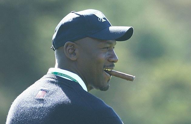 Michael Jordan cigar smoking mansion