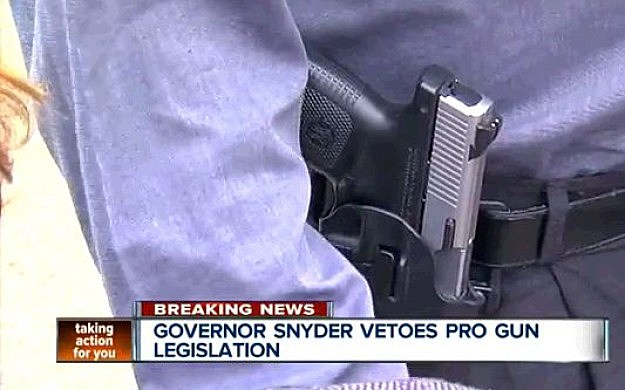 Govenor Snyder Vetoes Gun Bill
