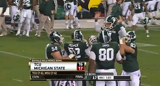 MSU Wins Buffalo Wild Wings Bowl