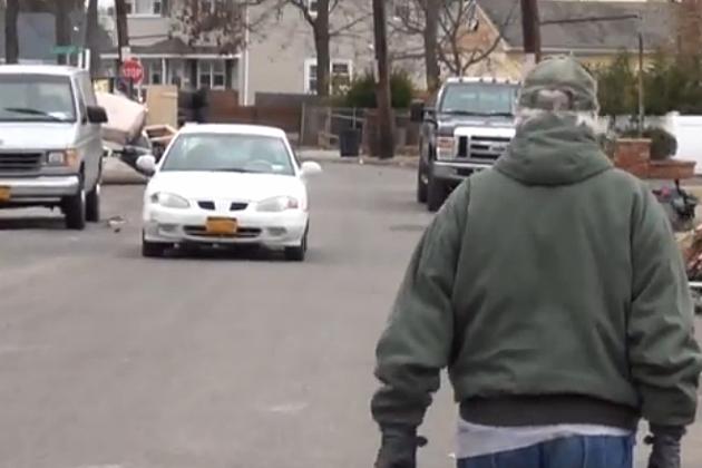 Man Walking in Street