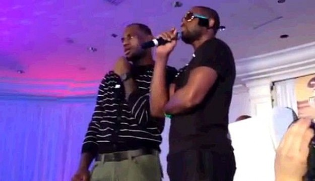 Lebron And Wade Sing