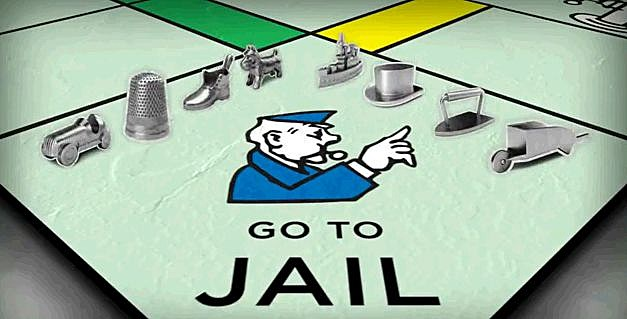 Monopoly Tokens Go To Jail