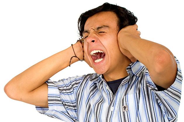 annoyed man screaming