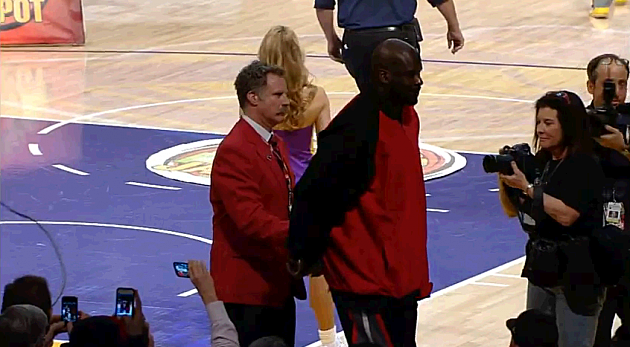 Will Ferrel hilariously ejects Shaq From Lakers Game