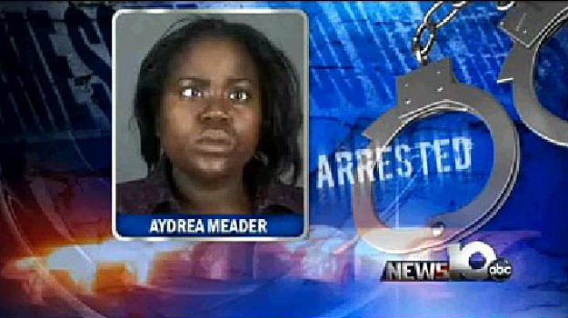 Aydrea Meaders Strips At Elementary School