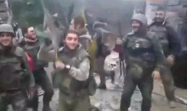 Syrian soliders dance to Usher