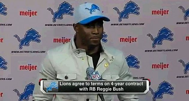 Reggie Bush Signs With The Detroit  Lions