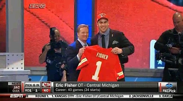 Eric Fisher CMU Chiefs First Draft Pick