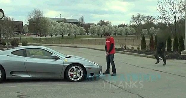 Roman Atwood Peeing On A Ferrari