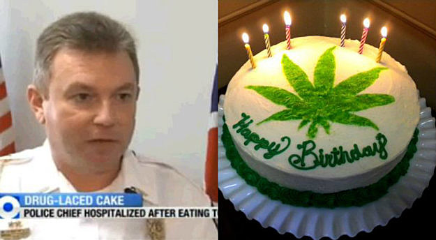 Police Chief Eats Weed Cake