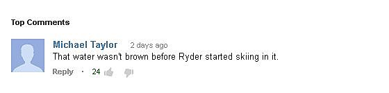 Ryder YouTube Comment